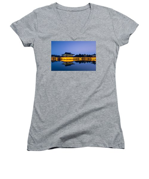 Clear And Beautiful Women's V-Neck T-Shirt