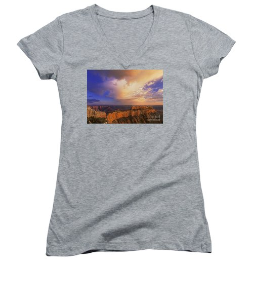 Clearing Storm Cape Royal North Rim Grand Canyon Np Arizona Women's V-Neck (Athletic Fit)