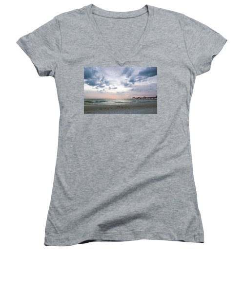 Clearwater Fishing Pier Women's V-Neck