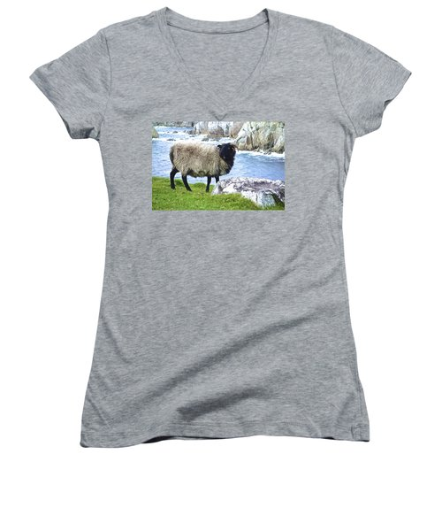 Clew Bay Sheep Women's V-Neck