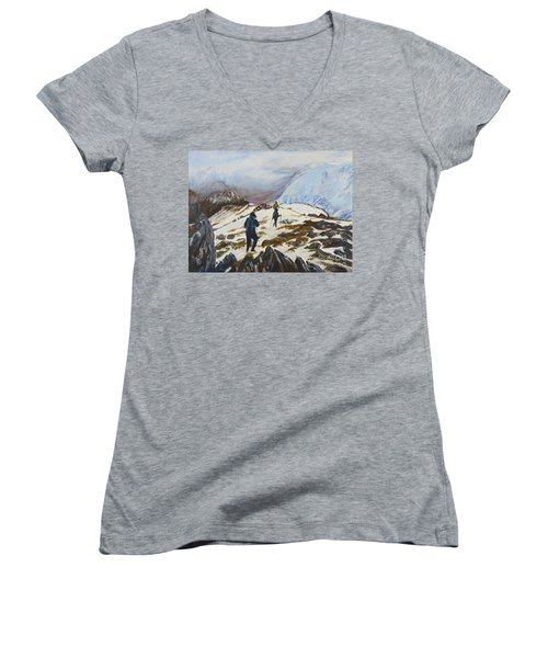 Climbers - Painting Women's V-Neck T-Shirt