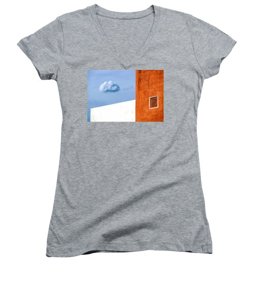 Cloud No 9 Women's V-Neck T-Shirt (Junior Cut) by Prakash Ghai
