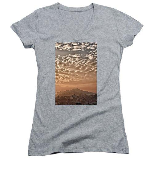 Cloud Over Kathmandu Women's V-Neck T-Shirt