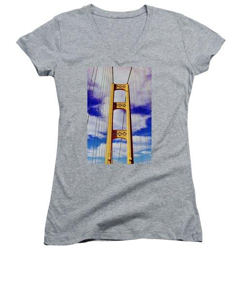 Clouds Women's V-Neck T-Shirt (Junior Cut) by Daniel Thompson