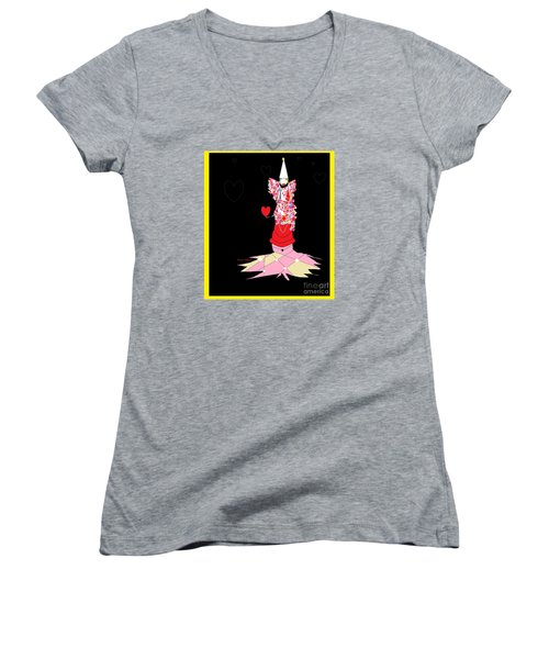 Clown Love Women's V-Neck (Athletic Fit)