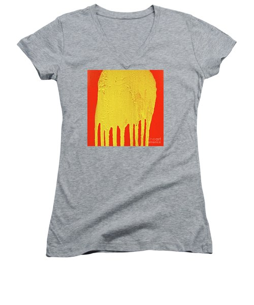 Women's V-Neck T-Shirt (Junior Cut) featuring the photograph Clyde by CML Brown