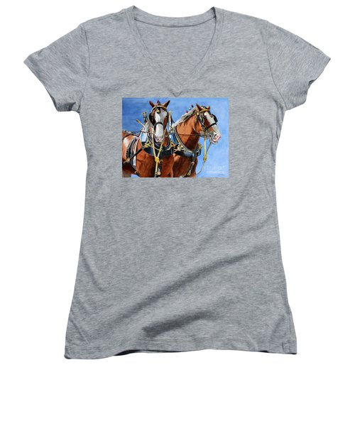 Clydesdale Duo Women's V-Neck T-Shirt