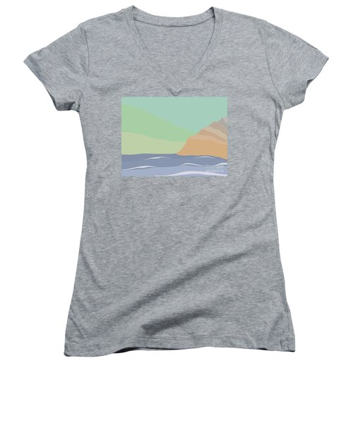 Coastal Bank Women's V-Neck (Athletic Fit)
