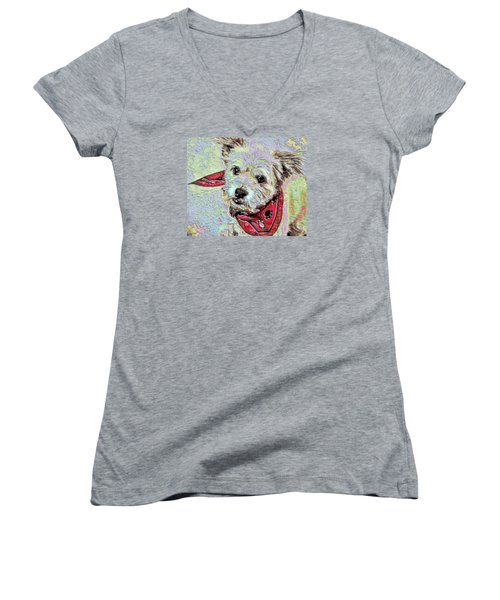 Cocoa On The Poster Women's V-Neck T-Shirt (Junior Cut)