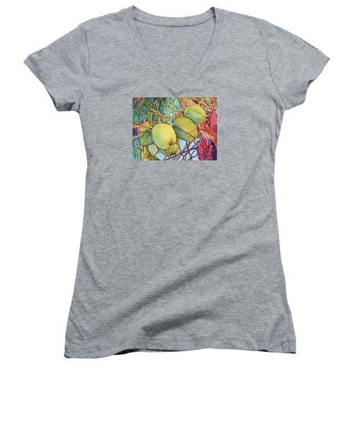 Coconuts At Sunset Women's V-Neck T-Shirt