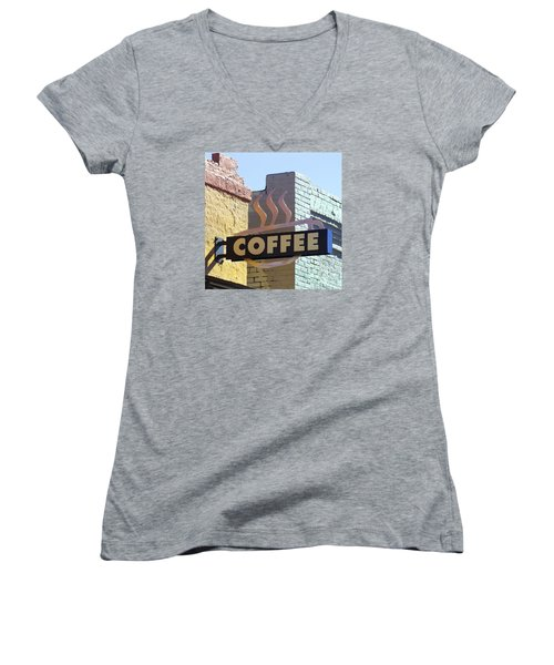 Coffee Shop Women's V-Neck T-Shirt