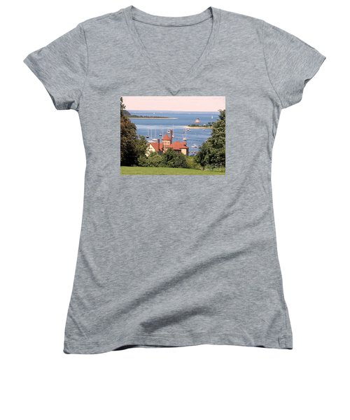 Coindre Hall Boathouse Women's V-Neck T-Shirt