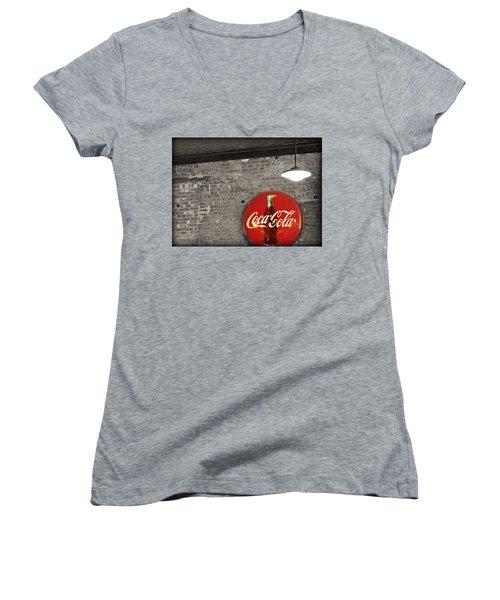 Coke Cola Sign Women's V-Neck
