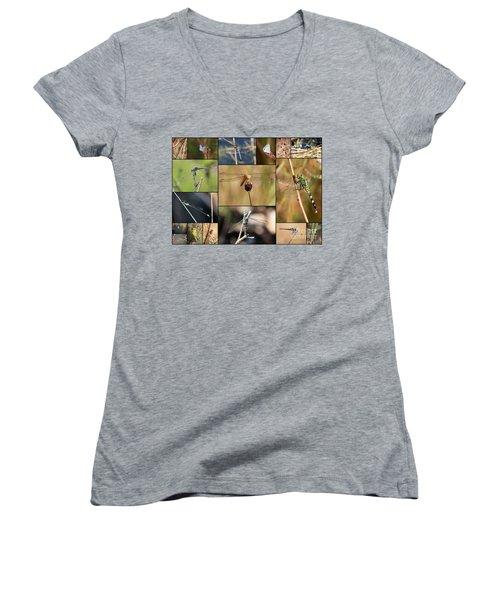 Collage Marsh Life Women's V-Neck T-Shirt