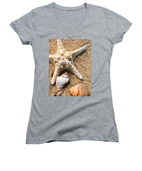 Collecting Shells Women's V-Neck (Athletic Fit)