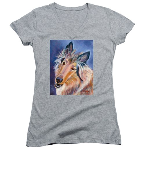Collie Star Women's V-Neck