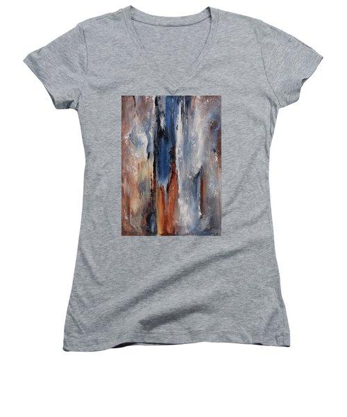 Color Harmony 06 Women's V-Neck T-Shirt (Junior Cut) by Emerico Imre Toth