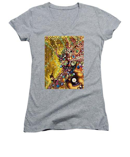 Color Intoxication Remix Women's V-Neck T-Shirt