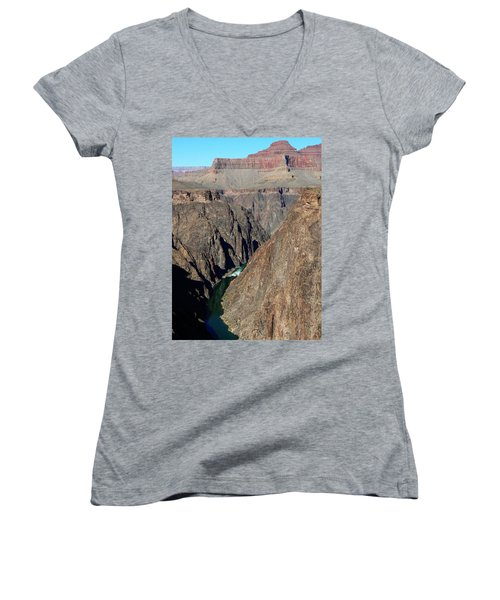 Colorado River From Plateau Point Women's V-Neck (Athletic Fit)