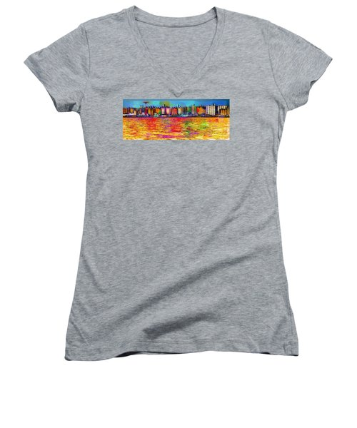 Colorful Coney Island Women's V-Neck (Athletic Fit)