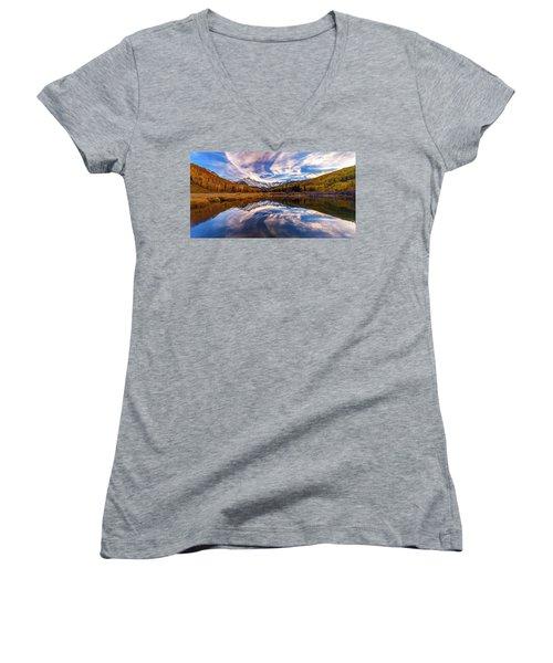 Colorful Reflection Women's V-Neck T-Shirt