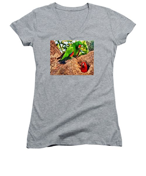 Colorfully Bright Women's V-Neck T-Shirt