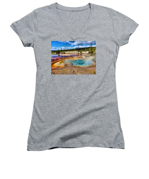 Colors Of Yellowstone National Park Women's V-Neck (Athletic Fit)
