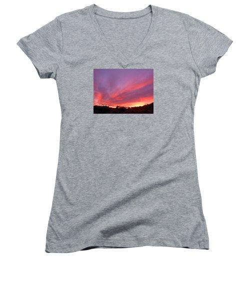 Colourful Arizona Sunset Women's V-Neck T-Shirt