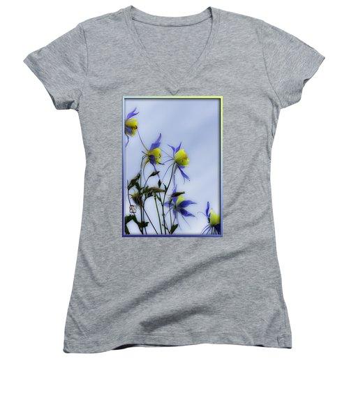 Columbines Women's V-Neck T-Shirt (Junior Cut) by Peter v Quenter