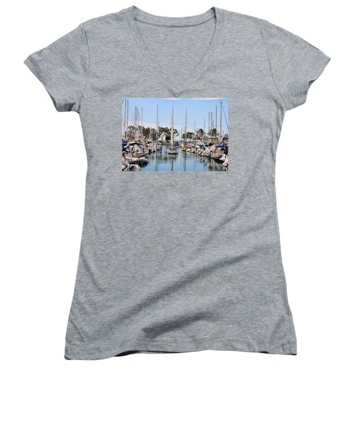Women's V-Neck T-Shirt (Junior Cut) featuring the photograph Come Sail Away by Tammy Espino