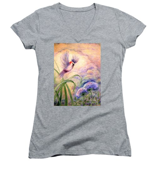 Coming To Rest Women's V-Neck T-Shirt (Junior Cut) by Hazel Holland