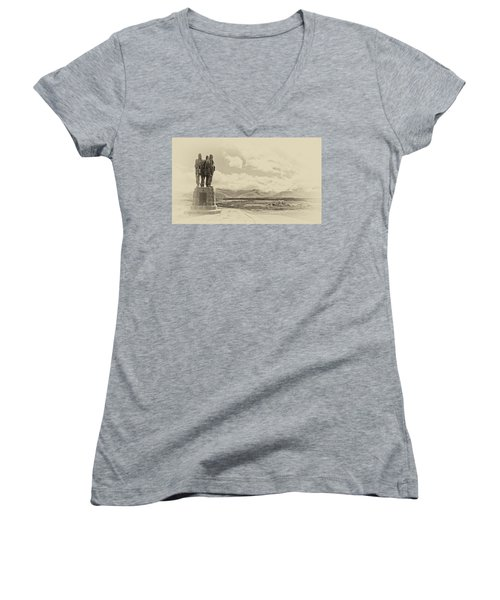 Commando Memorial 3 Women's V-Neck T-Shirt