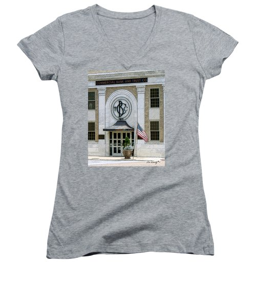 Commercial Bank And Trust Women's V-Neck