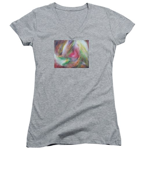Compassion Women's V-Neck T-Shirt (Junior Cut) by Becky Chappell