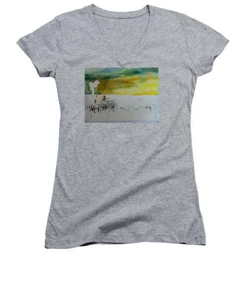 Composition2 Women's V-Neck T-Shirt