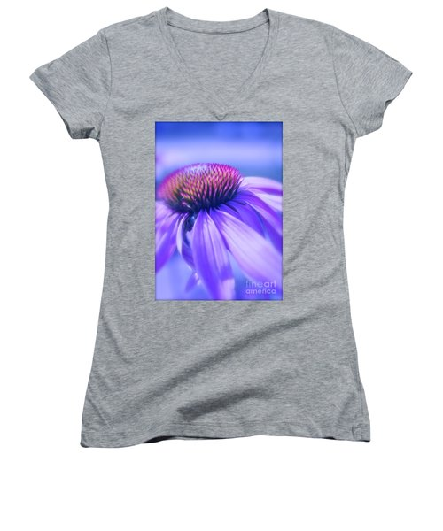 Cone Flower In Pastels  Women's V-Neck T-Shirt