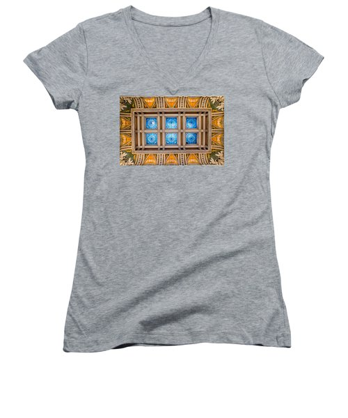 Congress Art Women's V-Neck T-Shirt (Junior Cut) by Greg Fortier