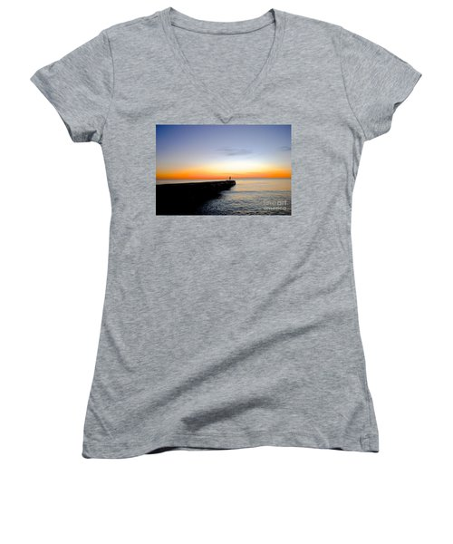 Contemplating The Meaning Of Life Women's V-Neck T-Shirt