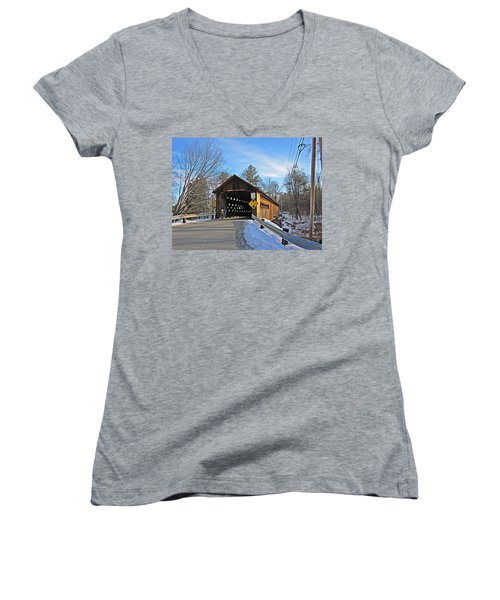 Coombs Covered Bridge Women's V-Neck T-Shirt