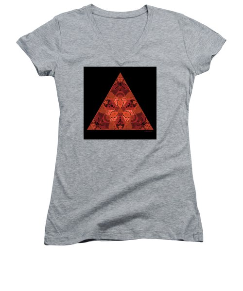 Copper Triangle Abstract Women's V-Neck