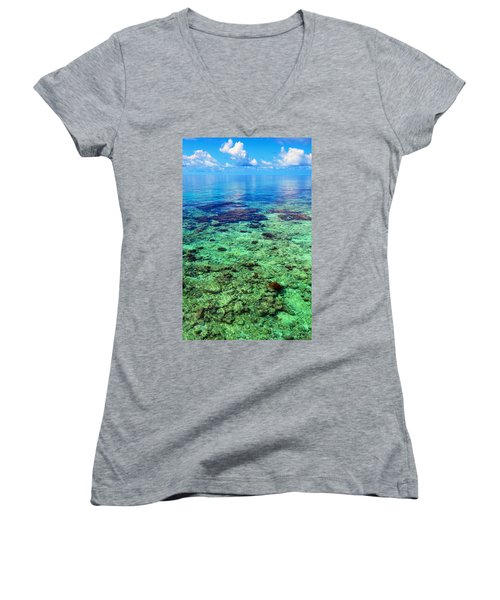 Coral Reef Near The Island At Peaceful Day. Maldives Women's V-Neck