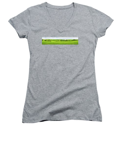 Cornwall Panorama Color Women's V-Neck (Athletic Fit)