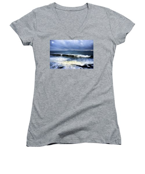 Coronado Islands In Storm Women's V-Neck (Athletic Fit)