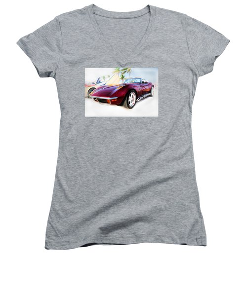 Chevrolet Corvette Series 02 Women's V-Neck (Athletic Fit)