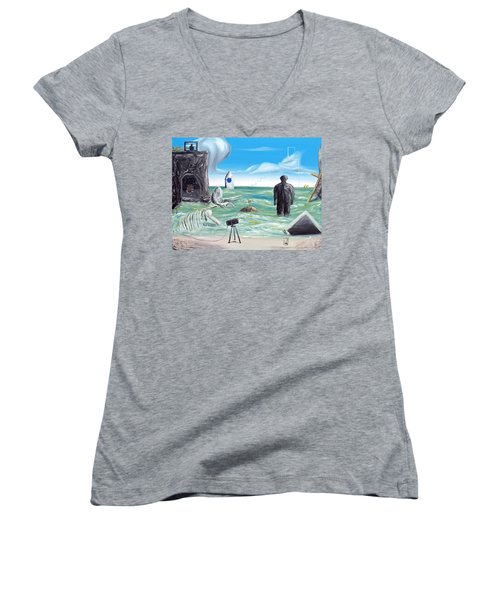 Cosmic Broadcast -last Transmission- Women's V-Neck