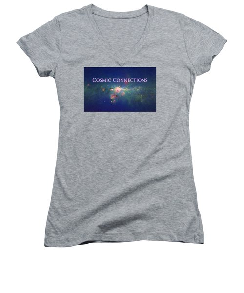 Cosmic Connections Women's V-Neck T-Shirt (Junior Cut) by Lanita Williams