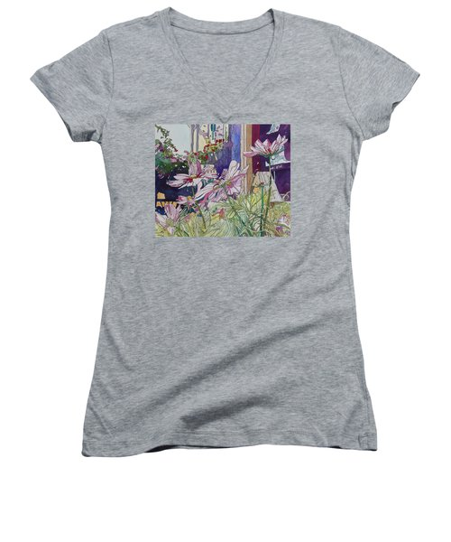 Cosmos At The Coffee Shoppe Women's V-Neck