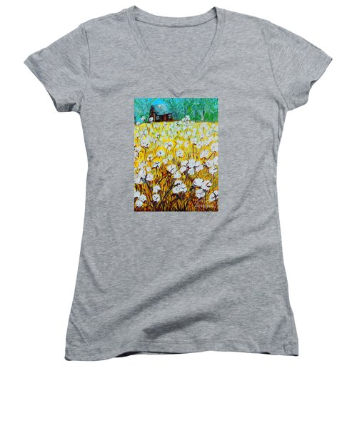 Cotton Fields Back Home Women's V-Neck T-Shirt