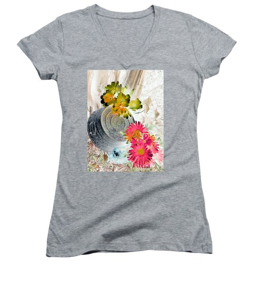 Country Summer - Photopower 1509 Women's V-Neck T-Shirt