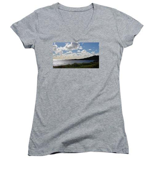 Cowaramup Bay 2.2 Women's V-Neck T-Shirt (Junior Cut) by Cheryl Miller